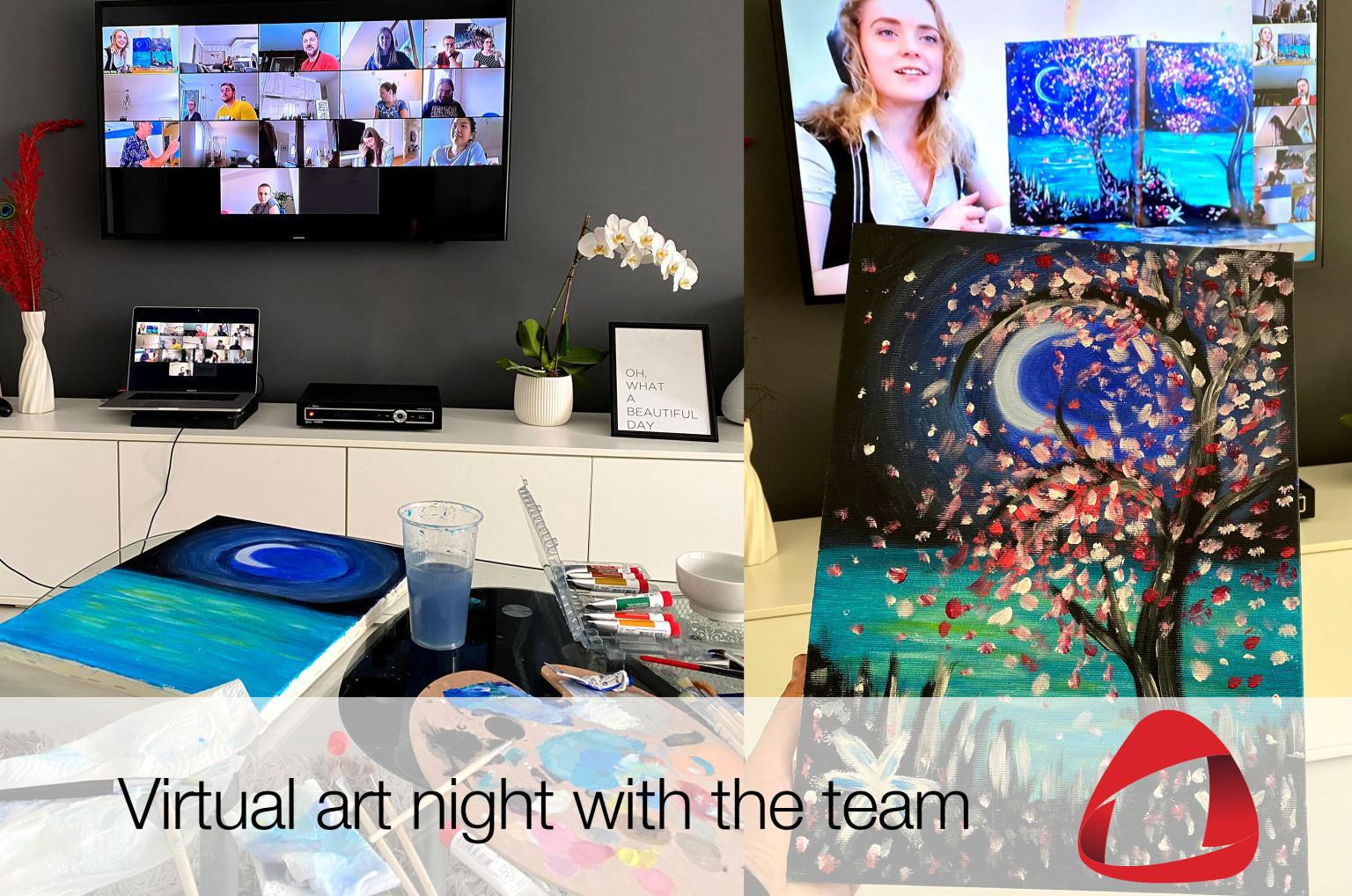 Virtual art night with the team